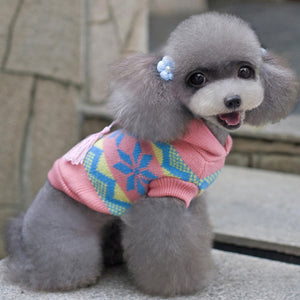 Cute pink and patterned dog jumper | Dog Clothes