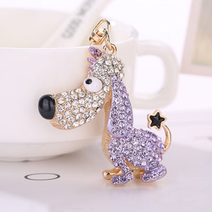 Standing Various Colours Dog Rhinestone Tassel / Keychain | Dog Accessories