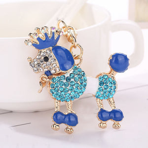Dog Rhinestone Tassel Keychain | Dog Accessories
