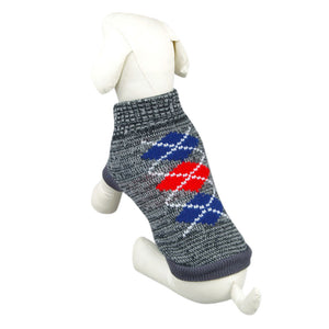 Diamond Pattern Dog Jumper | Dog Clothes