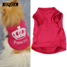 Princess Dog Shirt / Vest with Printed Design | Dog Clothes