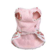 Winter Dog Dress with Flower Pattern | Dog Clothes