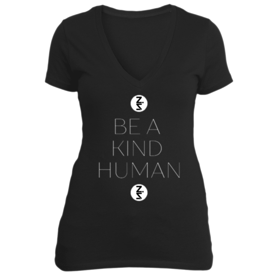 Be a Kind Human BLACK VNECK