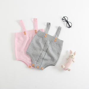 Cute Button Overalls
