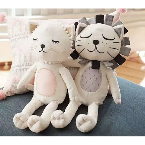 Lion and Cat Soft Toys