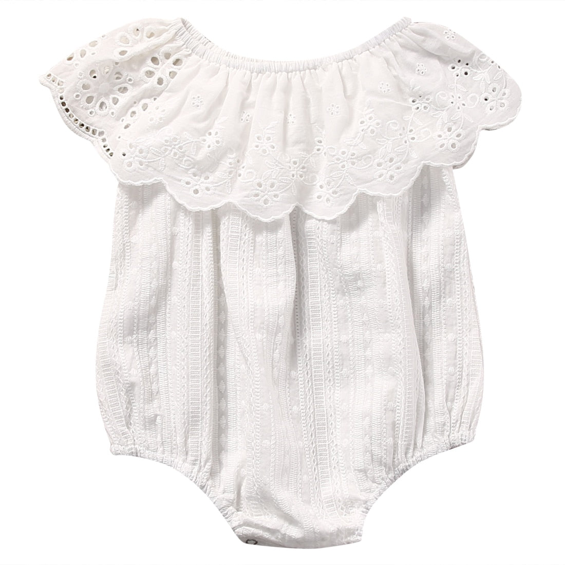 Sunsuit White Lace Romper