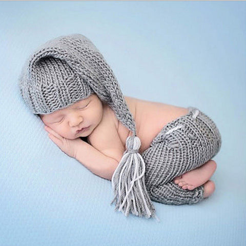 Newborn Crochet Knit Costume for Baby First Photoshoot