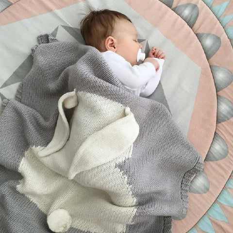 Baby Rabbit Swaddle Blanket