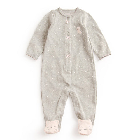 Kitten-Feet Baby Rompers