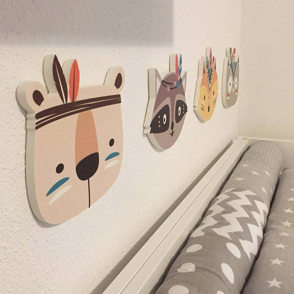 Nordic Animal Wooden Wall Decor