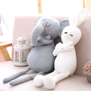 Cute soft buddy pillows, select from an elephant or a rabbit