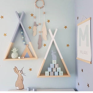 Nordic Style Wooden Triangle Shelf