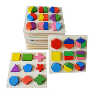 Wooden Geometry Building Puzzle Early Childhood Development