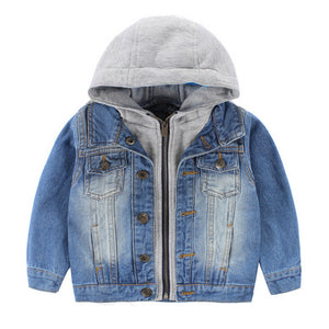 Boys Denim Jacket and Hoodie