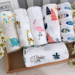 Muslin Cotton Baby Swaddles (20 patterns)