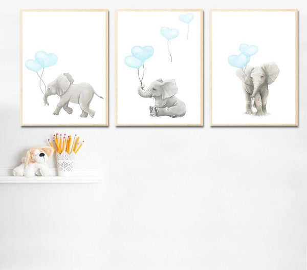 Elephant Balloon Wall Art