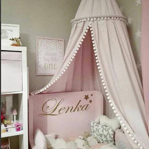 Baby Room Pom Curtain