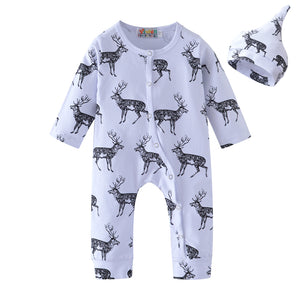 Johnny Reindeer 2Pcs Christmas Romper