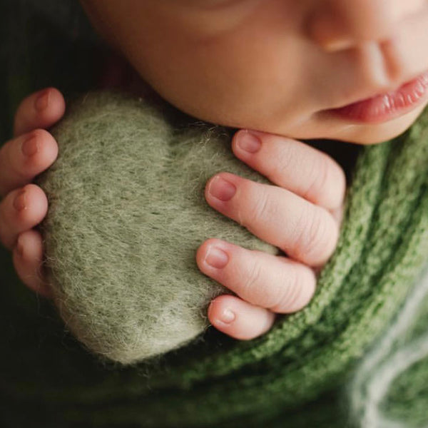 Newborn Photography Felt Heart