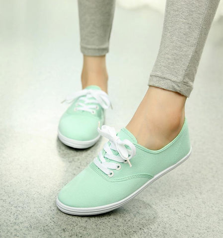 Women Flats Candy Color Flat Shoes Snickers