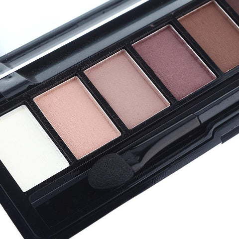 Professional Eye Shadow Shimmer Matte Palette With Brush 10 Colors Set
