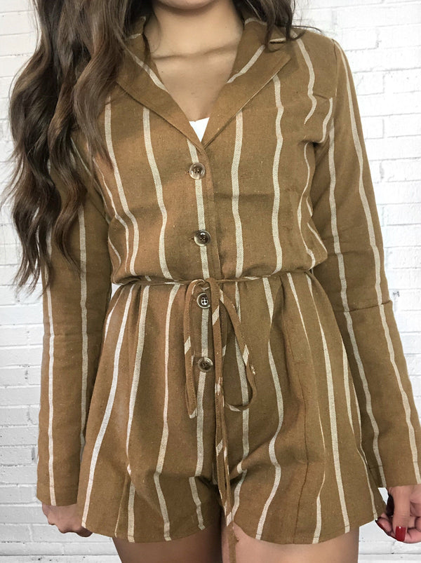 Carla Long Sleeve Romper - Fash.Culture