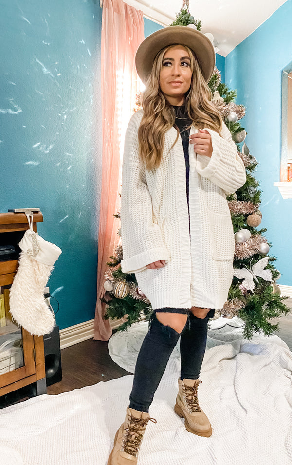 Belle knit oversized Cardigan