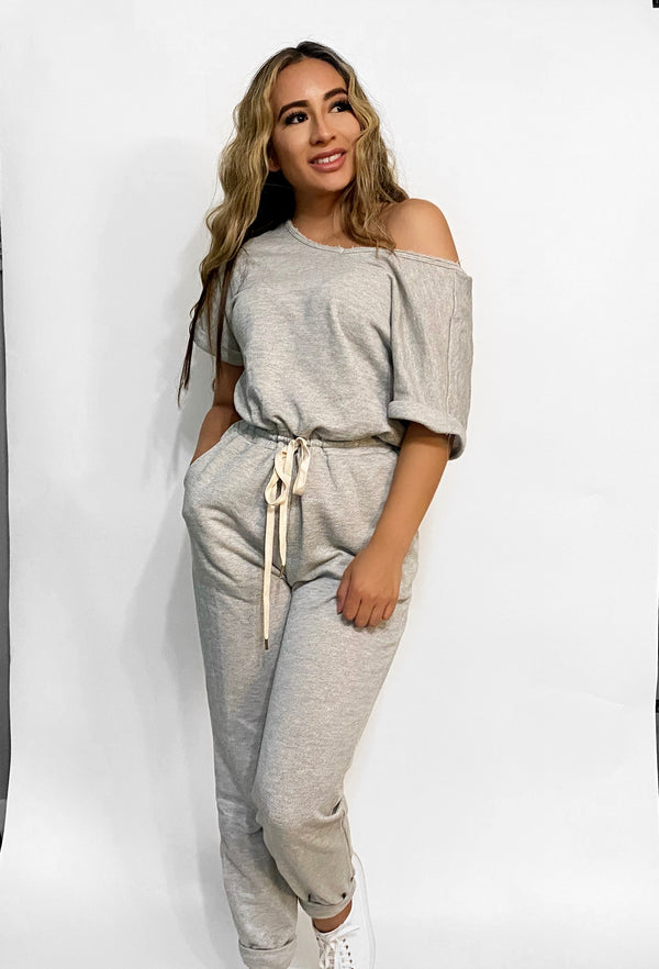 Heather Jogger Jumpsuit
