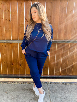 Sweatsuit Set in Deep Navy