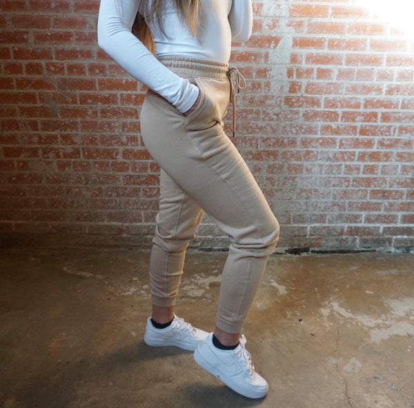 Jogger casual sweats in Taupe