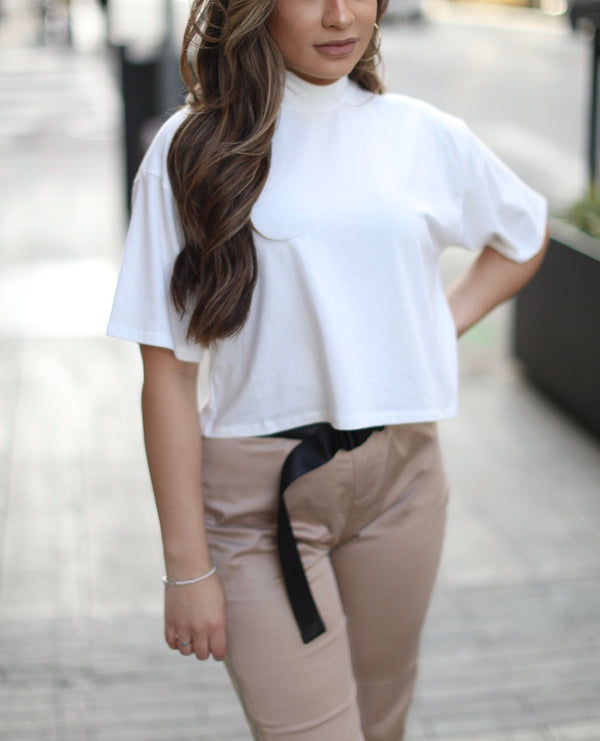 Long Cropped tee