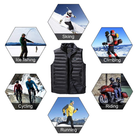 Multipurpose Electric USB Heated Vest Climbing Skiing Perfect for Winter
