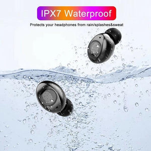 HiFi Waterproof Touch Control Headset - Bluetooth 5.0 Earphones Wireless Earbuds With Power Box for Swimmers Sports/Games