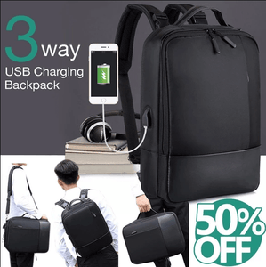 Premium Anti-theft Laptop Backpack with USB Port [2019 version]
