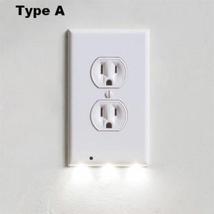 GuideLight™ OUTLET WALL PLATE WITH LED NIGHT LIGHTS - NO BATTERIES OR WIRES [UL FCC CSA CERTIFIED]