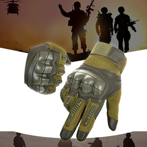 Military Full Finger Tactical Gloves - Hard Knuckle Army Special Forces Ops Fire Resistant Water Proof Gloves