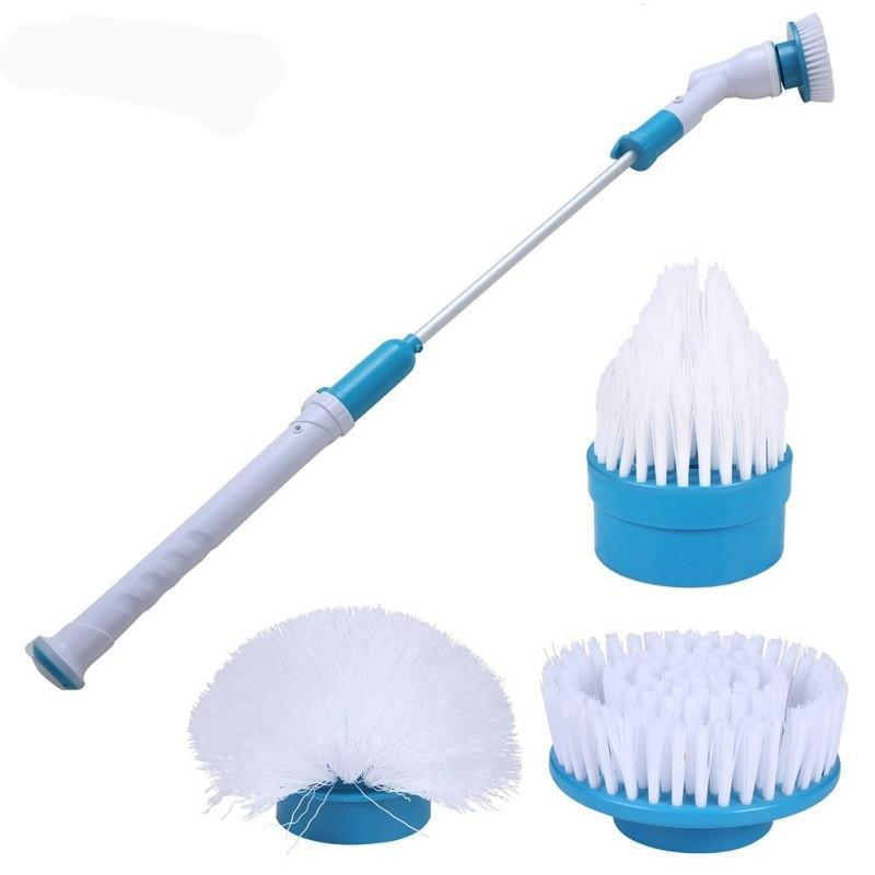 ELECTRIC POWER CLEANING SCRUBBER WITH EXTENSION HANDLE - Turbo Scrub Cleaning Brush Cordless Chargeable Bathroom Cleaner with Extension Handle Adaptive Brush Tub