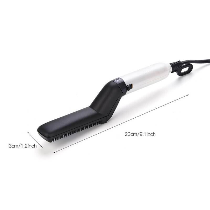 Beard Straightening Comb Heated Hot Electric Iron Pro Brush for Men
