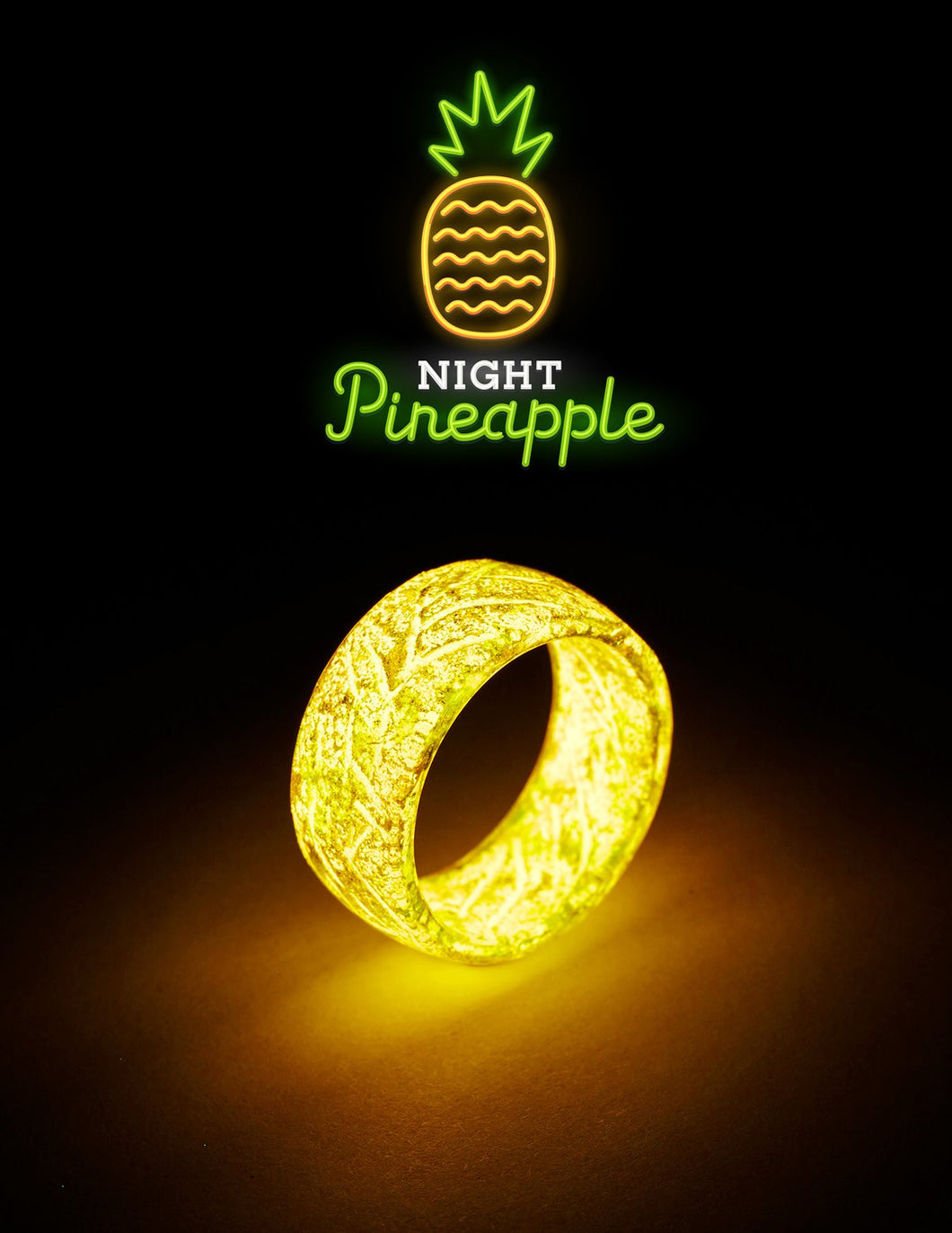 GLOWING RING COLLECTIONS - Resin Punk Luminous Glowing In The Dark Wedding Band Fluorescent Rings For Women Men Gift