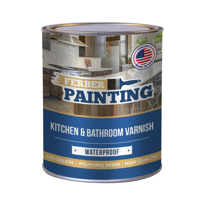 Kitchen and bathroom varnish