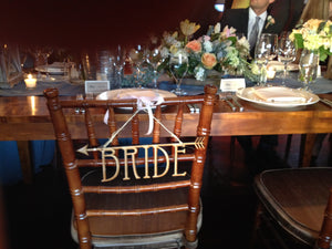 Bride and Groom Laser Cut wood Nashville Signs