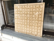 Framed Hanging Wood Puzzle With Clear Cover