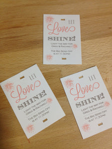 Wedding Sparkler Cards and Sign - Duel Design Studio - 1