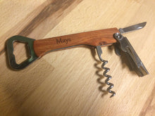 Personalized Engraved Wood Bottle Opener Wine Corkscrew - Duel Design Studio - 7