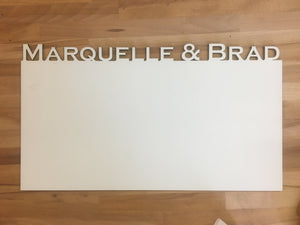 Custom Name Whiteboard Sign - Charlottesville