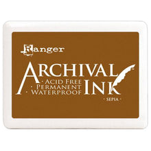"Sepia Brown Jumbo 4""x6"" Ink Pad - Ranger Acid Free Permanent Archival Ink - Duel Design Studio - 1"