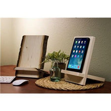 Solid Basswood 2 Piece Tablet Stand - Duel Design Studio - 2
