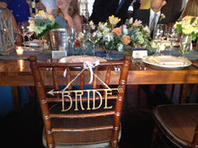 Set of Bride and Groom Wood Wedding Chair Signs - Duel Design Studio - 3