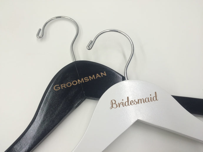 Bridesmaid & Groomsman Hanger Set