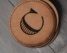 Leather Personalized Monogram Coasters - Duel Design Studio - 5